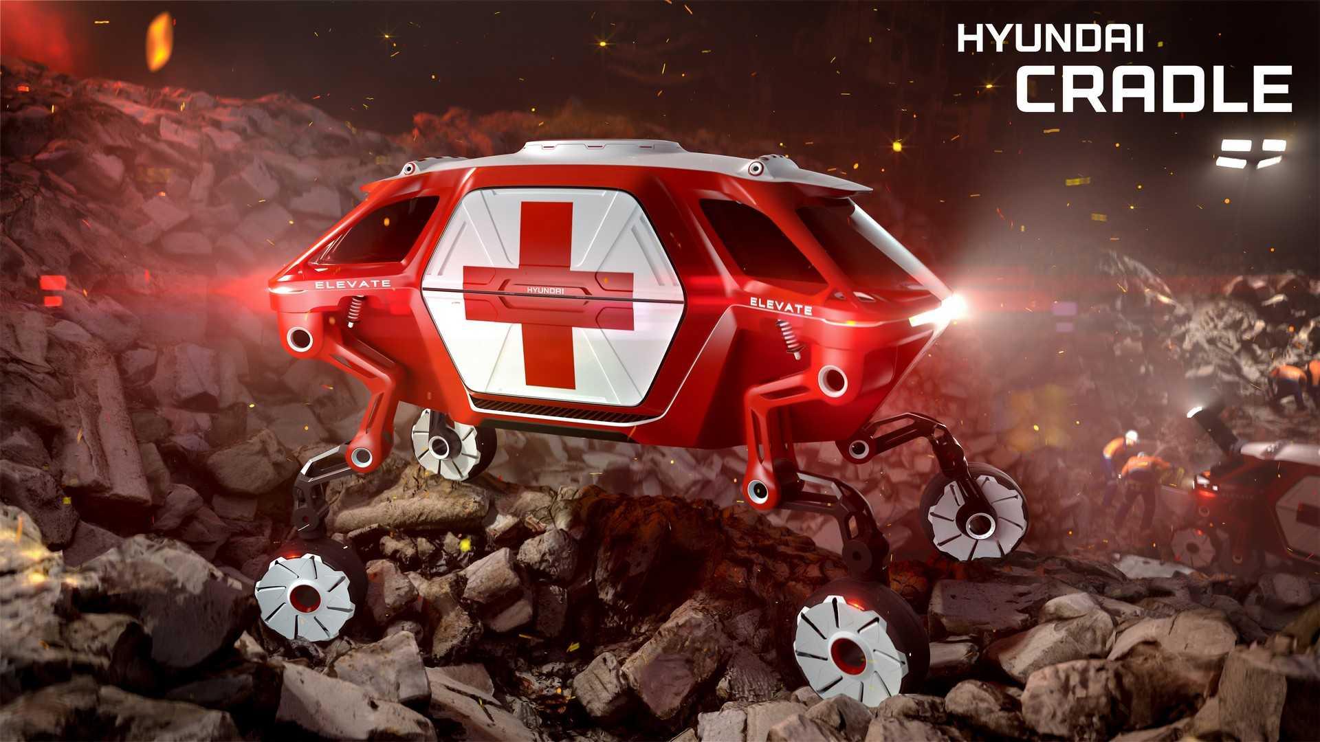 Hyundai Elevate Kereta Konsep Yang Mampu Merangkak Dan Berjalan