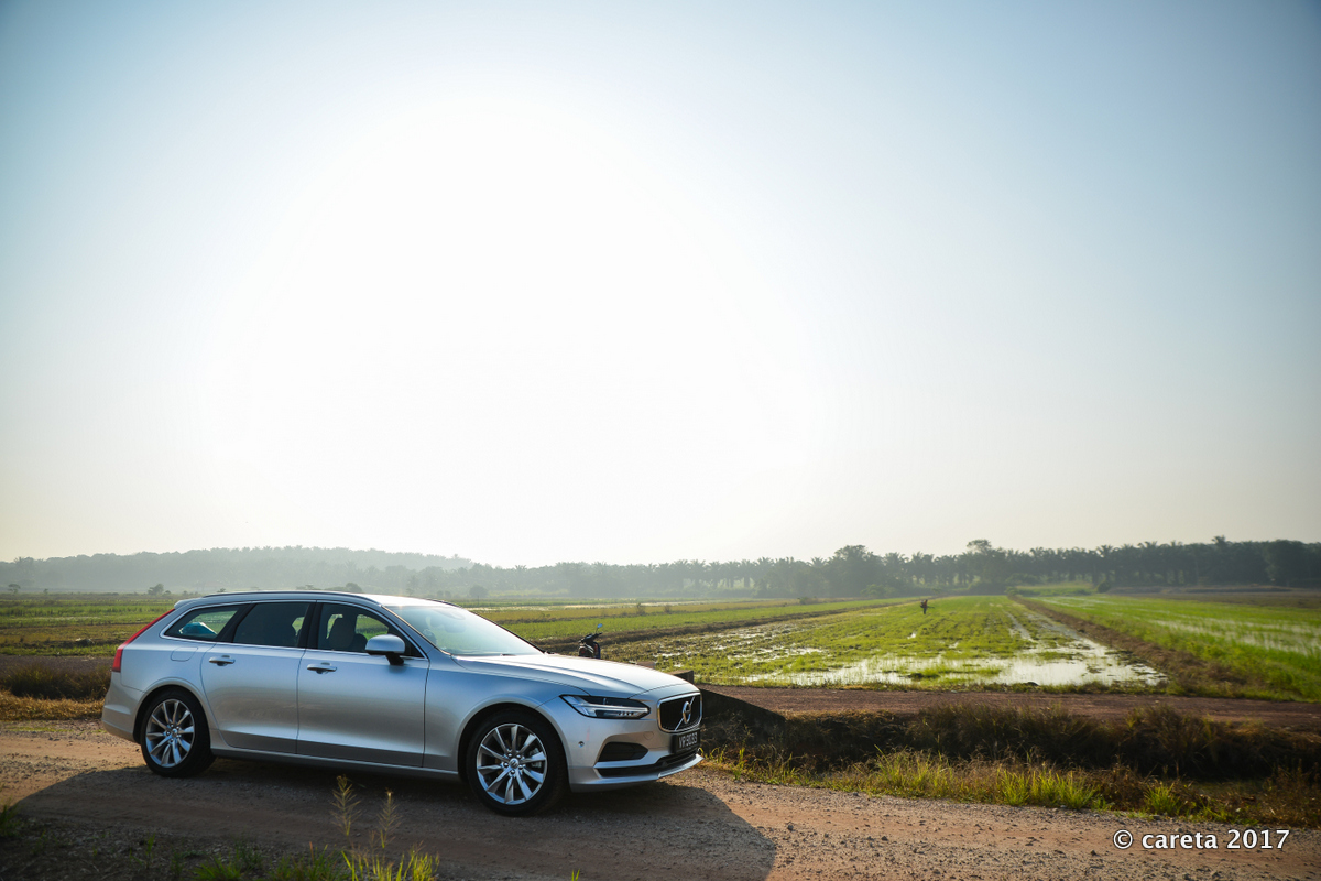 V90 at paddy field