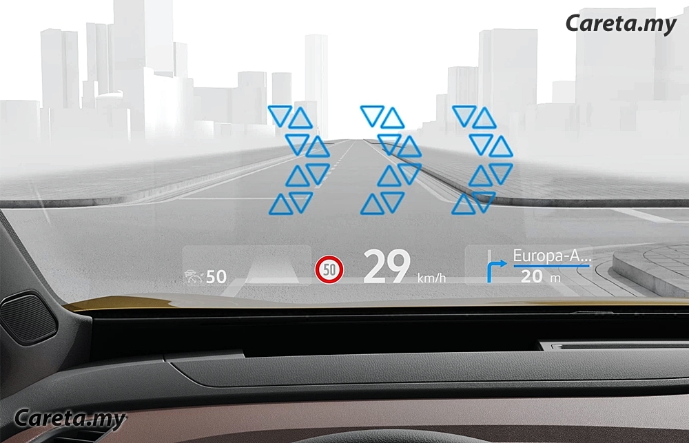 Volkswagen augmented reality head-up display